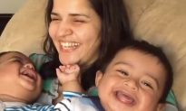 Mom with her two kids, what she does—it's going to put a huge smile on your face