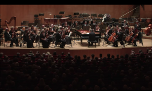 Pianist was in the middle of a beautiful performance when a phone starts ringing—he is not happy