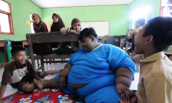 Heavy child was too big to attend school, but wait till you see him now—he's a new kid