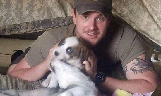 Pup is found by soldier in a 50 ft garbage pit of medical waste in Afghanistan