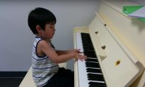 Adorable little kid sits in front of piano, but as soon as he puts his hand on it—my jaw drops