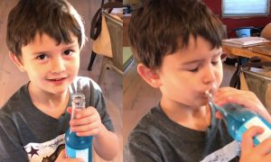 Dad lets his son try soda for the first time—the effect is almost immediate