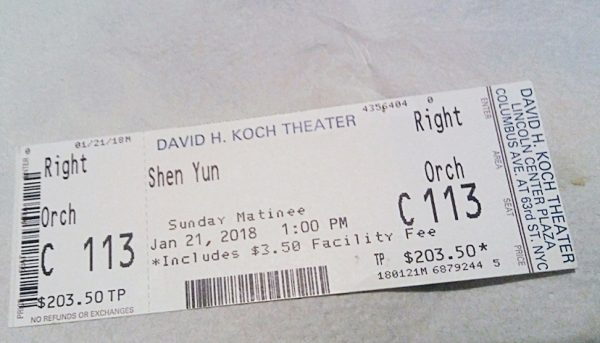 Charlene Gibb got the last available ticket to Shen Yun's performance at the Lincoln Center.