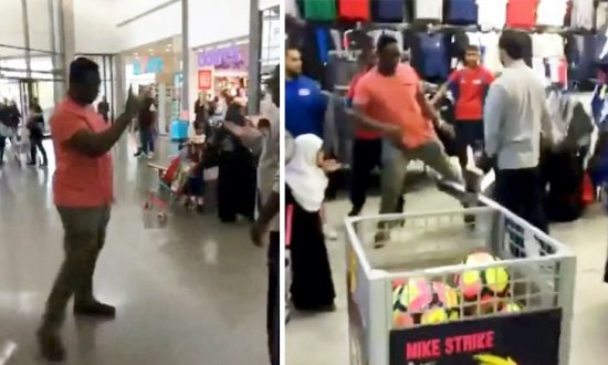Man Goes on Rampage in Sports Shop Before Customer Stands up to Him