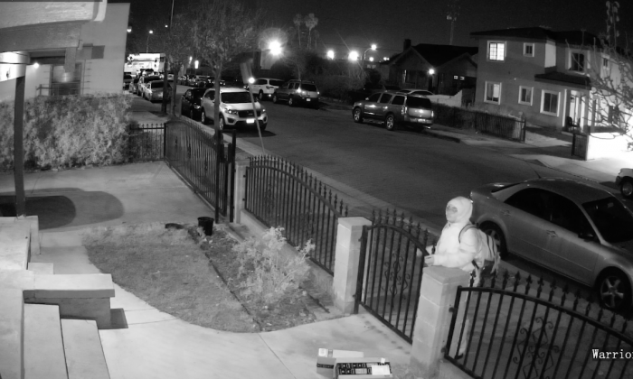 Delivery man leaves package in yard—but what man does when he sees it out in open—it's all on camera