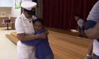 Third Grader Girl Got A Surprise From Navy Mom