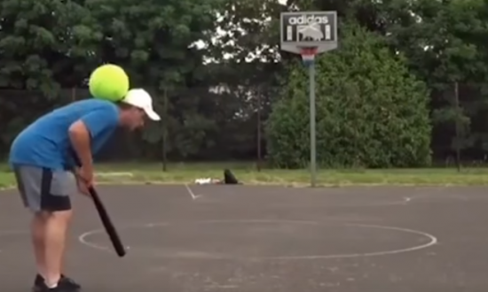 Soccer player showing off his trick shots—it starts to get mind boggling