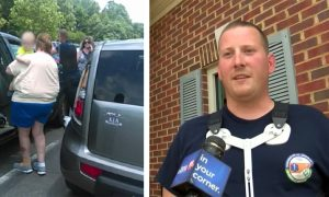 EMT walked off shift to find woman screaming about baby locked in hot car