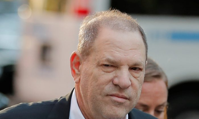Film producer Harvey Weinstein arrives at the 1st Precinct in Manhattan in New York, May 25, 2018. (Lucas Jackson/Reuters)