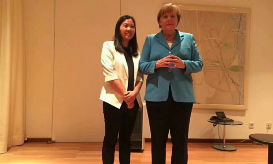 German Chancellor Merkel Meets With Wife of Detained Human Rights Lawyer, Yu Wensheng