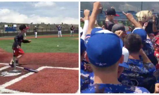 4-year-old battling cancer gets chance to bat at beloved college baseball game