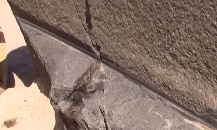 They're at the pyramids in Egypt, but what they find—they couldn't ignore it