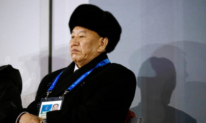 Kim Yong Chol, vice chairman of North Korea's ruling Workers' Party Central Committee, watches the closing ceremony at the Pyeongchang Olympics in South Korea on February 25, 2018. (Reuters/Patrick Semansky/Pool/File Photo)