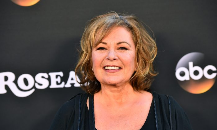 """Roseanne Barr attends the premiere of ABC's """"Roseanne"""" at Walt Disney Studio Lot in Burbank, California on March 23, 2018.  (Alberto E. Rodriguez/Getty Images)"""