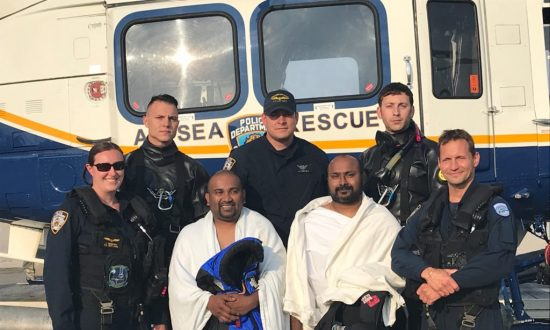 Video: Police Rescue Kayakers in Water Off Queens