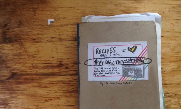 Schipp's original notebook of recipes, collected for herself along her journey. (Jessica Gray Schipp)