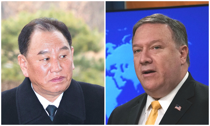 General Kim Yong Chol and Secretary of State Mike Pompeo (Alex Wong and Korea Pool/Getty Images)