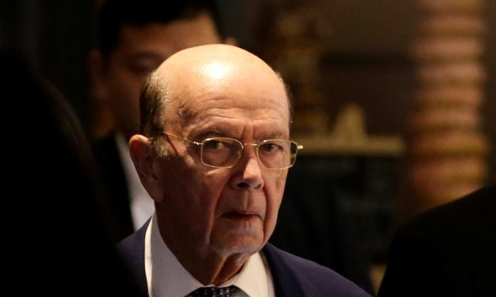 U.S. Commerce Secretary Wilbur Ross, a member of the U.S. trade delegation to China, returns to a hotel in Beijing, China May 3, 2018.  Even if he manages to get the Chinese to reduce the trade deficit, the consequences for the dollar would be huge. (Reuters/Jason Lee)
