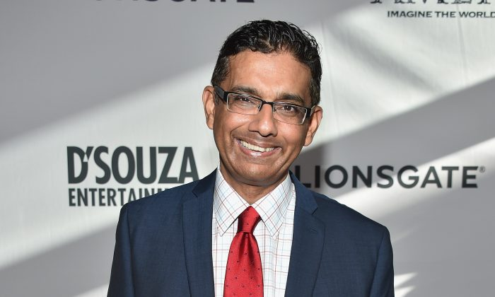 """Dinesh D'Souza attends the premiere of Lionsgate Films' """"America"""" at Regal Cinemas L.A. Live in Los Angeles on June 30, 2014. (Alberto E. Rodriguez/Getty Images)"""