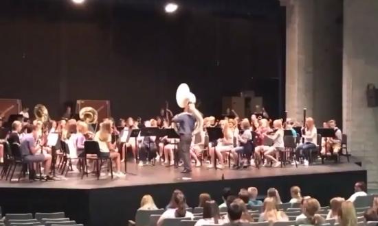 Music Students Surprise Sick Teacher with 'Top Gun' Performance