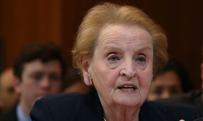 Former Secretary of State Madeline Albright testifies during a Senate Appropriations Committee hearing on Capitol Hill, in Washington on May 9, 2017. (Mark Wilson/Getty Images)