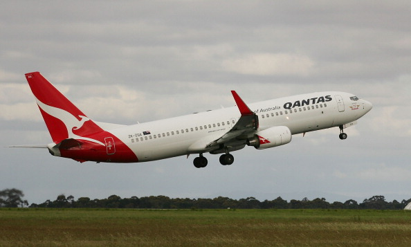 A Qantas airplane takes off at Melbourne Airport in Melbourne, Australia, on October 31, 2011. (Scott Barbour/Getty Images)