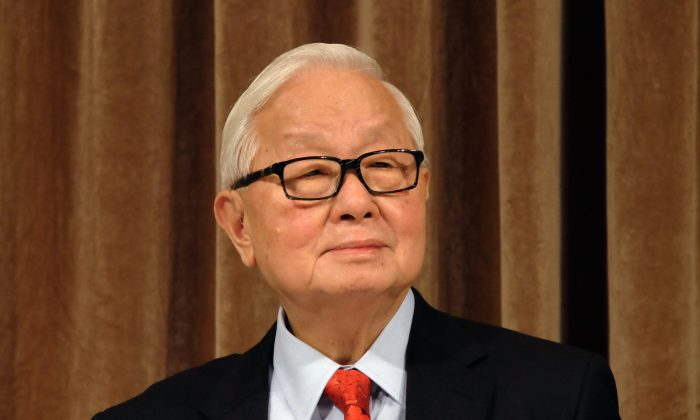 Morris Chang, chairman of TSMC, during a shareholders conference in Taipei on Jan. 16, 2014. (Sam Yeh/AFP/Getty Images)