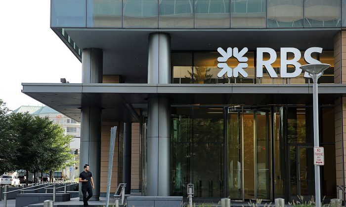 The RBS (Royal Bank of Scotland) building is viewed in downtown Stamford on September 9, 2015 in Stamford, Connecticut. (Spencer Platt/Getty Images)