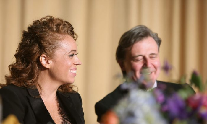Comedian Michelle Wolf at the 2018 White House Correspondents' Dinner at the Washington Hilton on April 28. Wolf was criticized for her lewd and cruel jokes about Press Secretary Sarah Huckabee Sanders. (Tasos Katopodis/Getty Images)