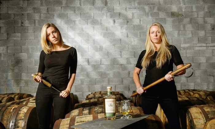 Blaise Kelly, national sales and marketing director (L), and Louise McGuane, founder (R), of Chapel Gate Whiskey Company. (John Kelly)