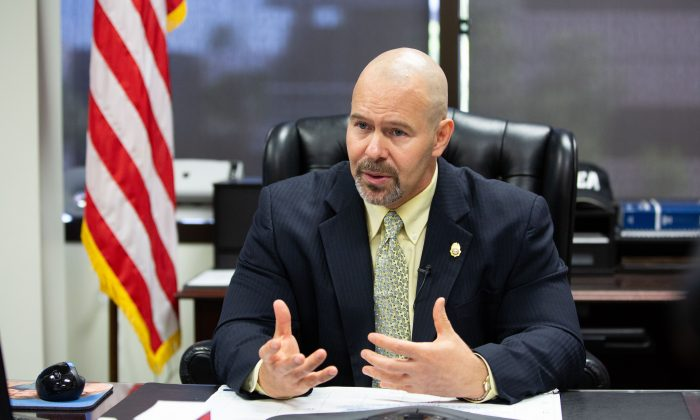 Arizona DEA Special Agent in Charge Doug Coleman at his office in Phoenix, Ariz., on May 24, 2018. (Samira Bouaou/The Epoch Times)