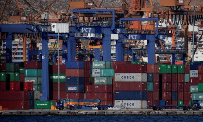 A view of the Piraeus Container Terminal, near Athens, Greece, on September 20, 2017. (Alkis Konstantinidis/Reuters)
