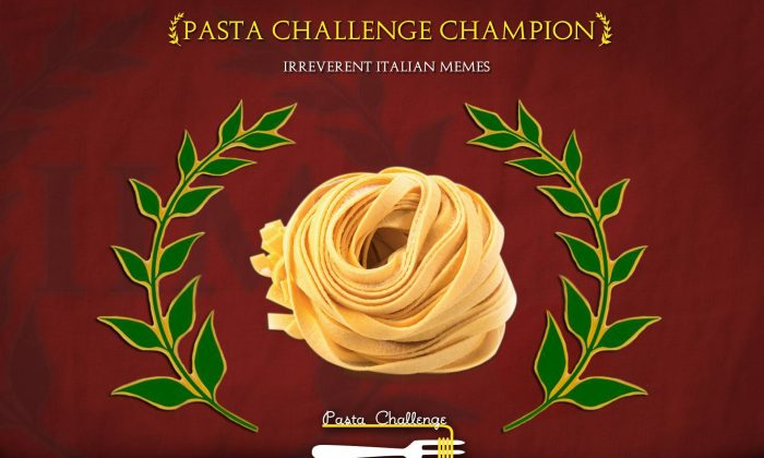The victor: tagliatelle. (Photo from Irreverent Italian Memes)