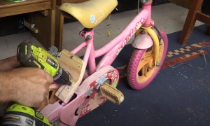 Dad got himself a pink bike, where he's going with this—you're in for a surprise