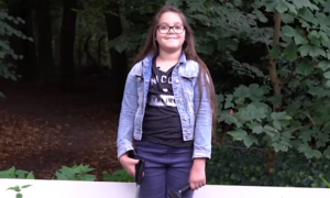 9-year-old girl spends free time picking up after others—but it's her reasoning that's inspiring
