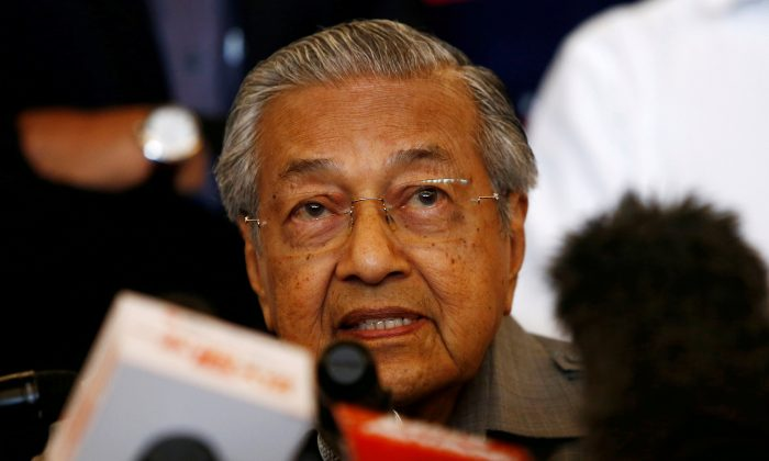 Mahathir Mohamad speaks during a news conference following the general election in Petaling Jaya, Malaysia, May 10, 2018. (Reuters/Lai Seng Sin/File Photo)