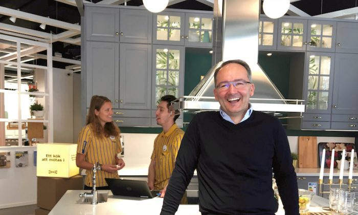 IKEA Group CFO Juvencio Maeztu poses at an IKEA kitchen showroom in downtown Stockholm, Sweden Apr. 17, 2018. Picture taken April 17, 2018. (REUTERS/Anna Ringstrom)