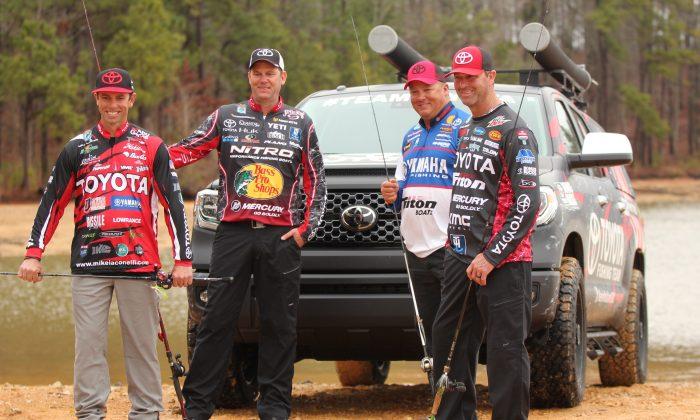 Toyota Bass Fishing Team members: (L–R) Michael Iaconelli, Kevin VanDam, Terry Scroggins, and Gerald Swindle. (Alan McGuckin)