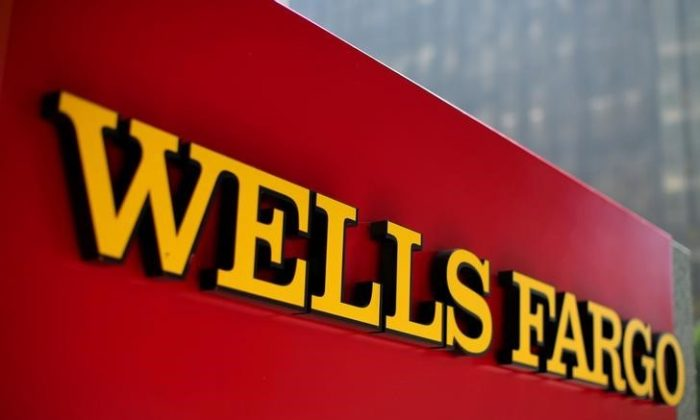 A Wells Fargo bank sign is pictured in downtown Los Angeles, California Aug. 10, 2017. (REUTERS/Mike Blake/File Photo)