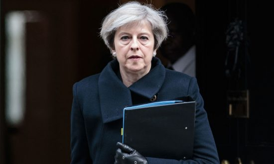 Prime Minister Theresa May leaves Downing Street on March 23, 2017 in London, England. (Jack Taylor/Getty Images)