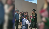 Woman left stunned after college graduation when boyfriend approaches and then gets down on one knee