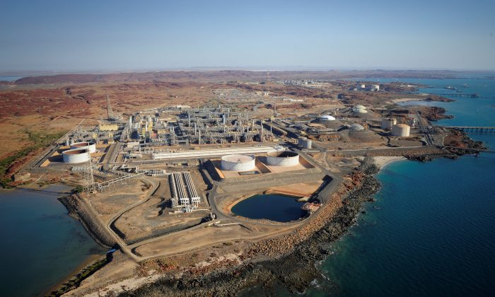 The Karratha Gas Plant in Australia is seen in this undated handout photo. (Woodside/Handout via Reuters)
