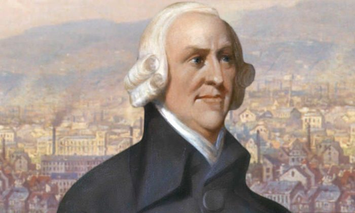 Adam Smith, born 295 years ago, did not use the word capitalist but promoted liberty, private property, and economic freedom. (Creative Commons)