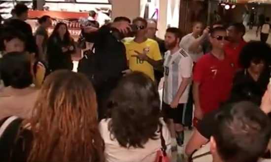 World Cup Player Impersonators Draw Fans in New York City