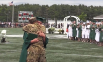 Deployed Soldier Surprises Son at Graduation, Whispers the Sweetest Thing in His Ear