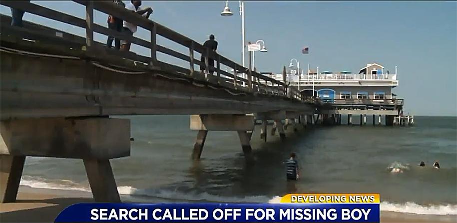 Three children were seen struggling in the currents around Ocean View Pier. (WTKR screenshot)