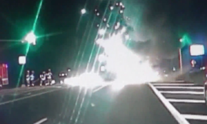 Correction officer stops to examine car wreck and saves woman from burning car