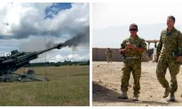 Footage of Australian Army Showing Off M777 Howitzer