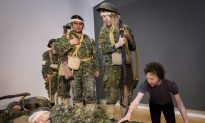 Human Tableau Re-creates 1919 Painting Depicting Effects of Mustard Gas