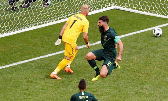 Captain Jedinak Makes Australia's Point Against Denmark